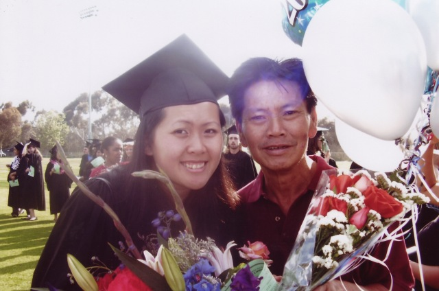 My dad and I at my graduation