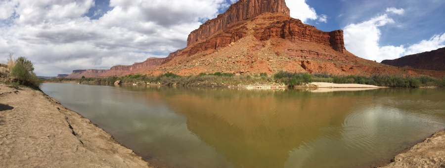 Colorado River Panorama at Rocky Rapid Put In